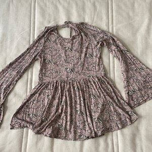 Soft and sexy babydoll floral boho top
